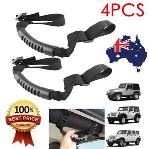Roll Bar Grab Handles Black Grip Handle for Jeep Wrangler TJ JK JL 1995-2020 X4