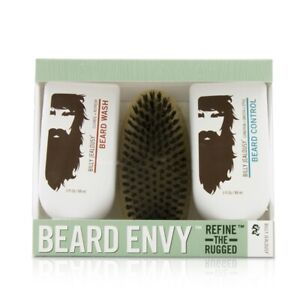 NEW Billy Jealousy Beard Envy Kit: Beard Wash 88ml + Beard Control 88ml + brush