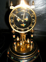 400 day anniversary/Torsion clock KIENING & OBERGFELL  KUNDO Black enamel &Brass