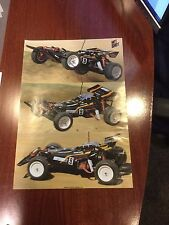 TAMIYA Hot Shot II 2 SIDED POSTER LAMINATED RARE FAST FREE SHIPPING BEST DEAL