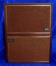 Wharfedale Bic Model W25 Bookshelf Speakers Tested Excellent Working Condition