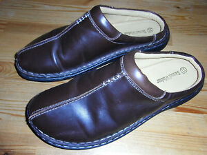Samuel Windsor Brown Leather Mules. Men's. Size 11. Very good, clean condition.