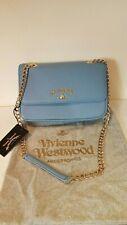 Vivienne Westwood Anglomania Medium blue Divina cross body clutch bag NEW £240
