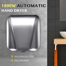 Electric Hand Dryer Machine with Auto Touchless Tech Stainless Steel 1800W