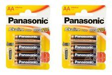 8x Panasonic Alkaline Power Batterie AA LR6 1,5V MN1500