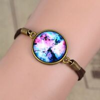 Women New White Red Universe Gift Leather Galaxy Space Stars Bracelet Nebula
