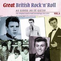 GREAT BRITISH ROCK 'N' ROLL VOL.4 2 CD NEUF ADAM FAITH/DAVID ROSS/THE DRIFTERS/