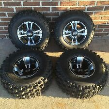 SET 4 YAMAHA WARRIOR 350 MACHINED ITP SS112 Rims & Slasher Tires Wheels kit