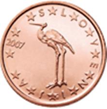 SLOVENIJA SLOVENIA SLOVENIE SLOWENIEN - 2007 - 0,01 EURO = 1 cent UNC from roll