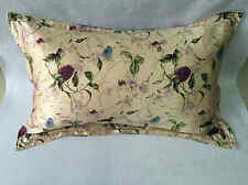 100% silk oxford pillowcase  pillow shams purple floral pillow cover two size