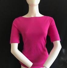 BNWT RALPH LAUREN Ladies Pretty Shrt Sleeve Cotton Top Solid Pink Sze S SAVE ££s
