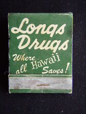 LONGS DRUGS WHERE ALL HAWAII SAVES STORES IN CALIFORNIA TOO MATCHBOOK