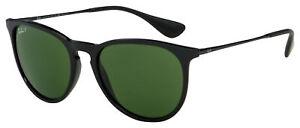 Ray-Ban Erika Sunglasses RB 4171 601/2P 54 Black | Green Classic G-15 Polarized