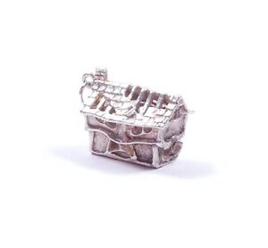 Rare Vintage Silver Charm Haunted House Opens To Ghost 925 Sterling 4.7g