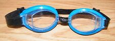 Intex Clear Lens Blue Frames - Black Adjustable Straps & Nose Piece Swim Goggles