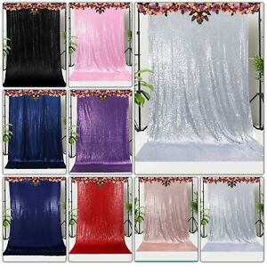 4ft x 7ft Sequin Backdrop Sparkly Background Drop Curtain Wedding Party Hanging
