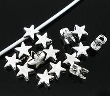 20x Cuentas de metal Abalorios espaciador plata antigua Estrella 6 x 6 mm NUEVO