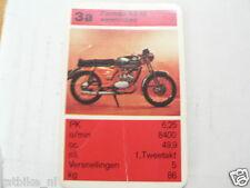 13 MOPEDS/MOTO LIGHT 3A ZUNDAPP KS50 WATERCOOLED KWARTET KAART, QUARTETT CARD