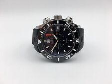 Edox Class-1 Chronoffshore Big Date 10020 3 NIN Analog Swiss Quartz Watch Black