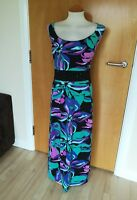 Ladies JOANNA HOPE Dress Size 20 Purple Stretch Maxi Long