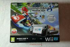 CONSOLE NINTENDO WiiU premium pack 32Gb + MARIO KART 8 NUOVA!!! NEW WII U BLACK