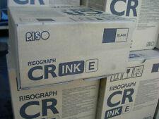 Risograph Cr Ink E S-2487E ,Two inks Brand New, Risograph Black Ink (M2)