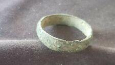 Lovely little rare Viking bronze finger ring. Please read description. L131a