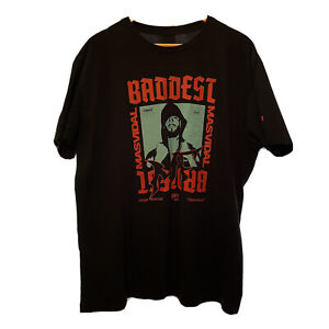 Reebok UFC 244 Mens Size XL Black Red Blue Graphic Fight Night Event Tee Shirt