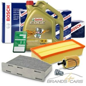 BOSCH-FILTER INSPEKTIONSPAKET+5L CASTROL 5W-30 LL VW GOLF 6 5K 2.0 TDI 05-13