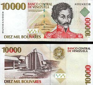 Venezuela 10000 Bolivares 1998, UNC, P-81, Prefix A 00******