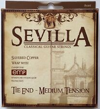 Sevilla Tie-End Medium Tension Classical Guitar Strings w Cleartone EMP