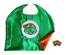 Halloween Costume Teenage Mutant Ninja Turtle Cape and Mask for Kids Boy Girl