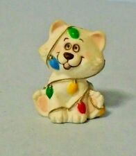 1985 Hallmark Christmas Merry Miniatures Cat With Christmas Lights