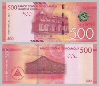 Nicaragua 500 Cordobas 2014 p214 unz.