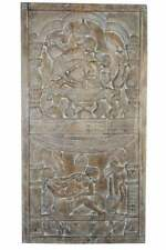 Khajuraho Inspired Vintage Kamasutra Hand Carved Wall Sculpture Art, Barn Door