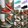 Women's Breathable Slip On Trainer Pumps Comfy Sport Casual Sneakers Shoe Size