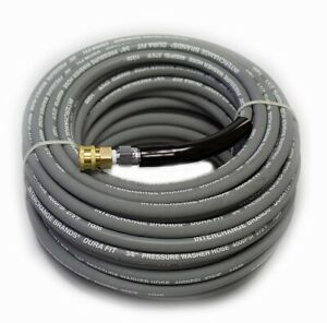 """Interchange Brands 1267691 3/8"""" x 100' 4000 PSI Quick-Connect Gray Wrapped Cover"""