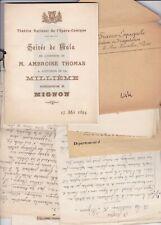 ✒ [Ambroise THOMAS & Mignon] Georges LOISEAU bel ensemble documents autographes