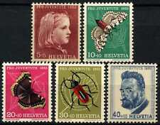 Switzerland 1953 SG#J147-J151 Pro Juventute, Insects MNH Set #D70931