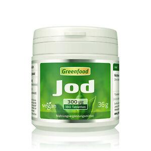 Greenfood Jod, 300µg, hochdosiert, 180 Tabletten - vegan