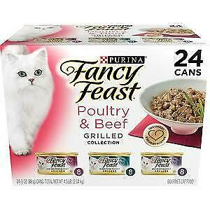 Fancy Feast Cat Food Gravy  Poultry and Beef GRILLED Collection