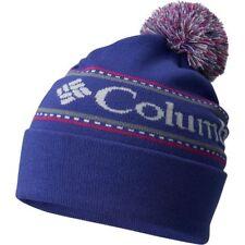 d8c21d6b55aa5 COLUMBIA CSC Logo RIB KNIT Winter SNOW BOARD Ski POM BEANIE HAT Cap WOMEN  ONE SZ