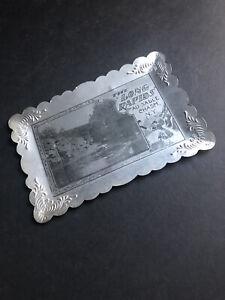 "VTG Ausable Au Sable Chasm NY  ""The Long Rapids"" Aluminum Tintype Photograph"