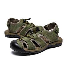 Soft Leather Men Casual Sandals Summer Outdoor Beach Slippers Garden Roman Shoes
