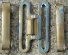 1937 Pattern Brass Belt Clasps & Sliders