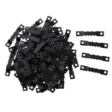 100Pcs Black Sawtooth Picture Photo Frame Hanging Hangers Hook Double Hole