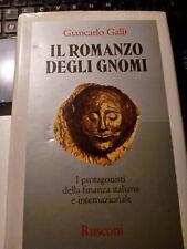 LIBRO IL ROMANZO DEGLI GNOMI GIANCARLO GALLI RUSCONI I EDIZIONE 1984