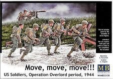 Master Box D-Day, Overlord Period 1944, US Soldiers on the MOVE!  1/35 130 ST