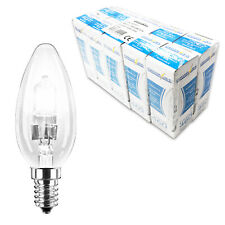 10 PowerSave 40w 60w Halogen Energy Saving Light Bulb SES E14 Small Edison Screw