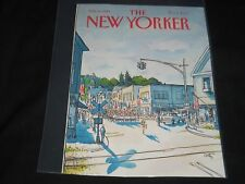 1981 JULY 6 NEW YORKER MAGAZINE FRONT COVER ONLY - GREAT ART FOR FRAMING